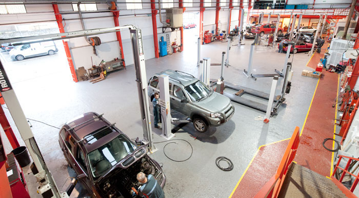 Westhill Garage has a large custom built workshop